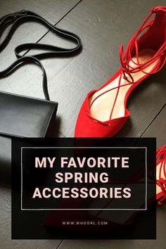 "I am officially in love with this season's shoes and bags, which is just perfect for me, considering I don't find myself buying much clothing since the capsule wardrobe days. I definitely have my ""uniform,"" so I really just look to adding pops of color and making seasonal additions through accessories. #accessories #style #bags"
