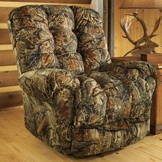 After a hard day in the field or at the office, kick up your feet and let yourself melt into this rocker/recliner.