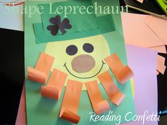 Reading Confetti: Shape Leprechauns