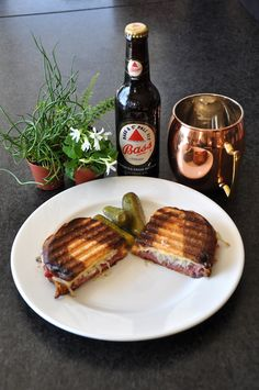 Corned Beef Panini for St Paddies Day