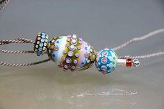 Lampwork Necklace Pendant Glass Christmas Gift by manuelawutschke