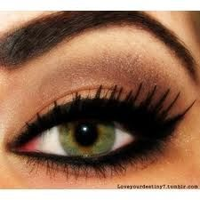 liner and lashes