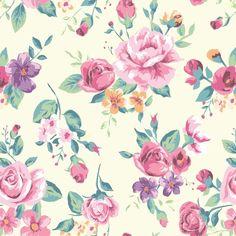 Papel De Parede Floral Rosas 87 | JMI DECOR | Elo7