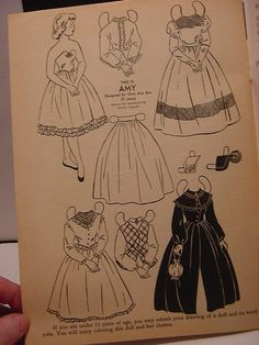 Amy 1955 of Wee Wisdom from Ebay * 1500 free paper dolls Christmas gifts artist Arielle Gabriels The International Paper Doll Society also free paper dolls The China Adventures of Arielle Gabriel *