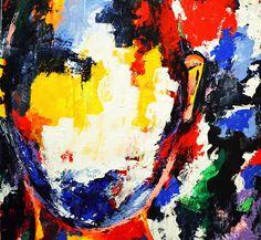 Sana Jamlaney Sans Titre II Acrylic on Canvas 30x30 in