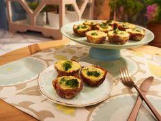 Get Mini Broccoli Quiches with Prosciutto Crusts Recipe from Food Network