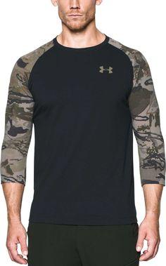 a837903b Under Armour Men's Ridge Reaper Hunting Long Sleeve Shirt, Size: Medium,  Black Ridge