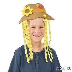 Scarecrow Hat Craft Kit - Oriental Trading $4.99 for 12