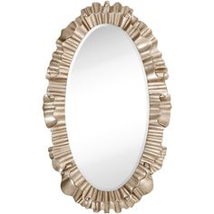 Majestic Oval Ornate Framed Beveled Glass Wall Mirror