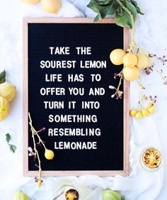 "98 Likes, 6 Comments - R I V I Co. letter boards (@rivi.co) on Instagram: "" When life gives you lemons, make lemonade We are loving this shot by @ohsodelicioso """
