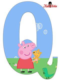 Alfabeto de Peppa Pig y Perrito 2.