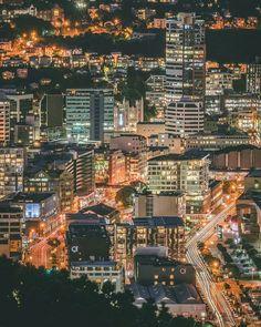 Gorgeous shot of Wellington at night Photo by Pitesh Mistry