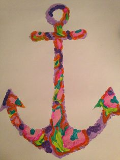 DIY Lilly Pulitzer painting