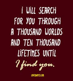 i ll search for you through 1000 words