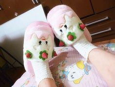 Cute strawberry slippers