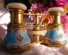 Beautiful antique sevres opera glasses