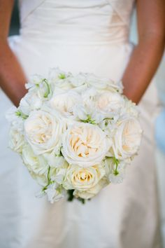 #Rose #Bouquet | Mark Davidson Photography | See the wedding on SMP -- http://www.StyleMePretty.com/massachusetts-weddings/boston/2013/12/27/boston-wedding-at-the-four-seasons/