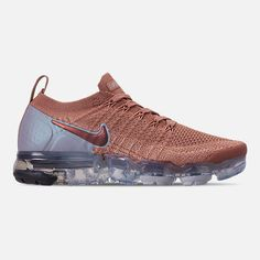 Right view of Women's Nike Air VaporMax Flyknit 2 Running Shoes in Rose Gold/Rose Gold/Bio Beige Light Running Shoes, Pink Running Shoes, Air Max Sneakers, Sneakers Nike, Jordan Swag, All Nike Shoes, Nursing Shoes, Workout Shoes, Basketball Sneakers