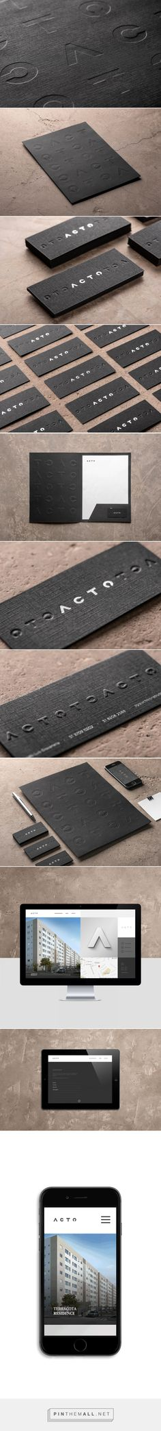 Acto Construction Company Branding by Rodrigo Brod | Fivestar Branding Agency – Design and Branding Agency & Curated Inspiration Gallery