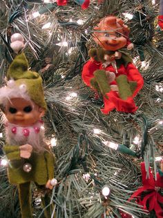 Kitsch - my great grandmother used to decorate her tree from top to bottom stuffed with these exact dolls!!! I have them now!!! I love them1!