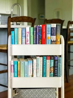 How I organize my reading life Ikea Trolley, Ikea Cart, Storage Trolley, Book Storage, Bookshelves In Bedroom, Bookcase, Ikea Book, Bookshelf Organization, Storing Books