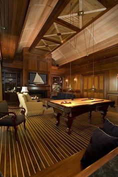 All-in-one potential: Office, media room, man cave and billiards/game room.