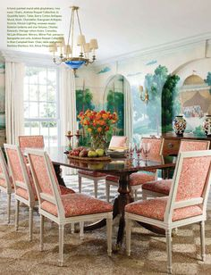 Formal Dining room with sisal rug