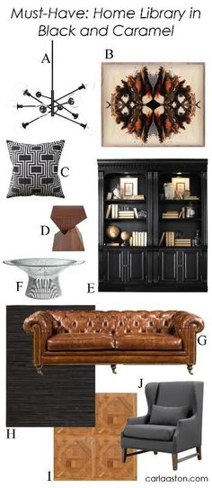 10 Must-Have Furnishings & Decor In Black & Caramel