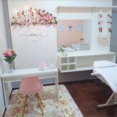 Home Nail Salon, Nail Salon Design, Nail Salon Decor, Salon Interior Design, Room Design Bedroom, Room Ideas Bedroom, Bedroom Decor, Beauty Room Salon, Beauty Room Decor