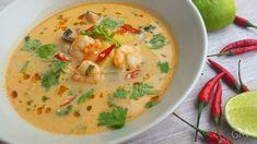 Tom Yum Goong - Thajská krevetová polévka Goong, Cheeseburger Chowder, Thai Red Curry, Soup Recipes, Toms, Ethnic Recipes, Milkshakes, Milan, Asia