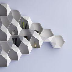 SEI by Michela Catalano & Lucio Pacifico (Italy) Product Design Interior Desing, Interior Architecture, Wall Design, House Design, Parametric Design, Storage Design, Design Furniture, Decoration, Shelving