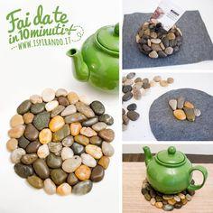 Come realizzare un sottopentola con i sassi...da fare in soli 10 minuti! #DIY #stones