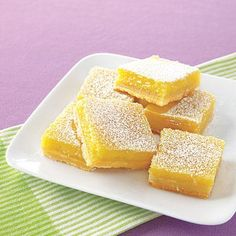 Yum! These sweet lemon bars will be a hit at your next get-together!