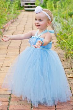 blue fairy princess tutu dress