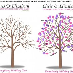 fingerprint tree wedding - Guestbook