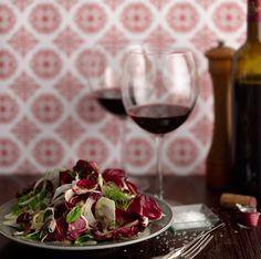 Fennel and Radicchio Salad with Olive Vinaigrette
