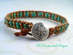 Stacking Bohemian Summer Leather Wrap by RoEnchantedDesigns, $20.00