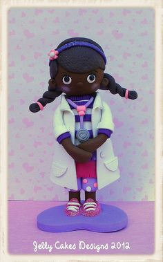 Doc McStuffins topper by jelly cakes, via Flickr