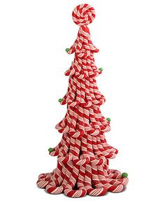 Byers' Choice Collectible Figurines, Red Candy Cane Christmas Tree