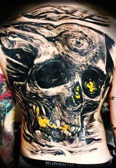 Realism Skull Tattoo by Iwan Yug