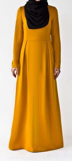 Mustard Tailored Abaya