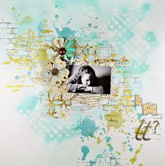 purple peanut's crafty blog: Is This It? - Mixed Media Page Tutorial
