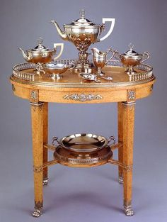 An imperial tea service by Peter Carl Fabergé - Peter Carl Fabergé (designer), Russian, 1846–1920 Julius Alexandrovitch Rappoport (workmaster), Russsian, 1864–1918