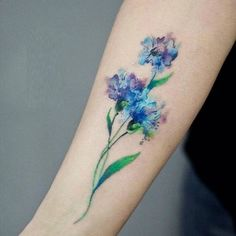 Amazing And Gorgeous Watercolor Tattoo Ideas You'll Love; Amazing And Gorgeous Watercolor Tattoo Ideas Tatoo Art, Tattoo You, Arm Tattoo, New Tattoos, Body Art Tattoos, Small Tattoos, Sleeve Tattoos, Cool Tattoos, Tatoos