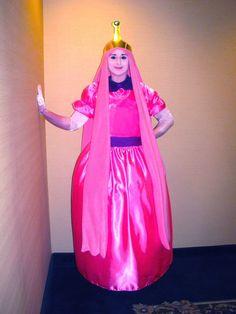 "costume includes: * handmade satin princess dress * handmade fleece wig * crown * light pink opera gloves  Fits up to 36"" bust 34"" waist"
