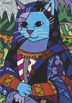 Romero Britto Mona Cat
