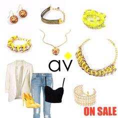 AV on sale starting July 15 2014 online exclusive Colombia fashion bijoux accesories moda y estilo!