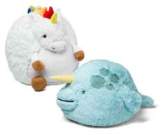 These chubby creatures: squishy unicorn & narwhal!
