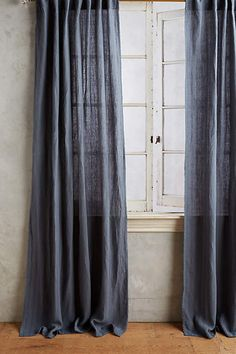 Striped Linen Curtain - anthropologie.com