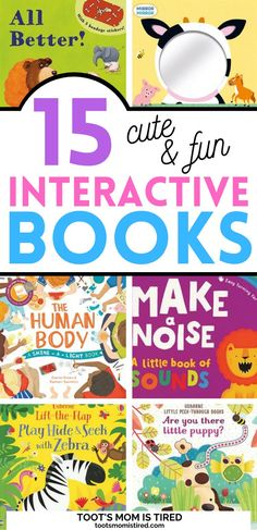 15 Best Interactive Books for Toddlers and Preschoolers | books for one year olds, two year olds, three year olds, four year olds. educational books with interactive elements. fun books for kids. Preschool Books, Preschool Classroom, Toddler Preschool, Preschool Activities, Classroom Ideas, Little Books, Good Books, Two Years Old Activities, Interactive Books For Kids